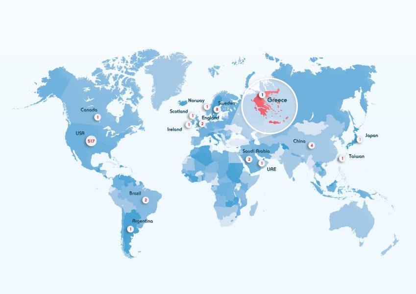 διαπίστευση carf  παγκόσμιος χάρτης